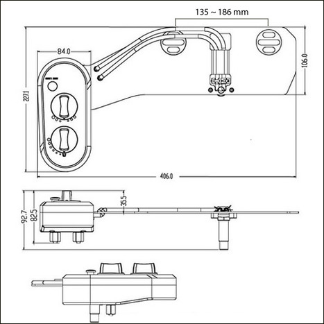 HYG-710: Non electric hot / cold water under seat bidet washlet