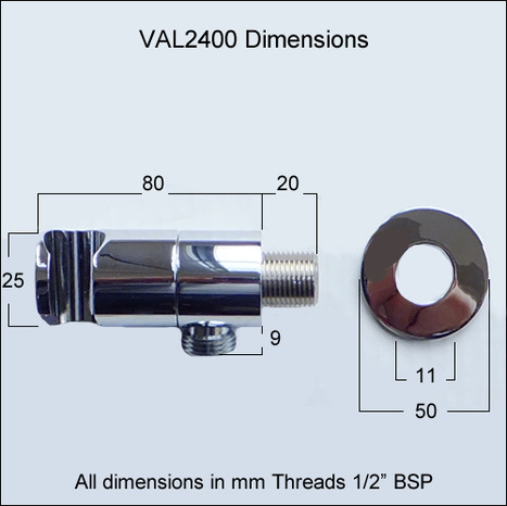 VAL2400:Auto-promt water shut off valve with shower mount