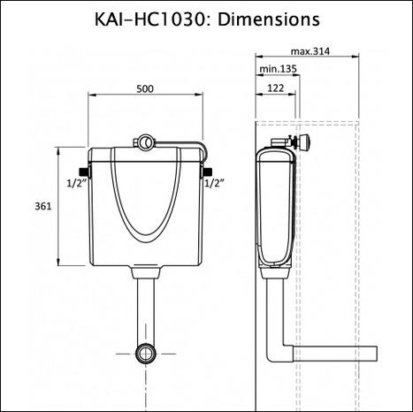 Slimline Concealed Cistern