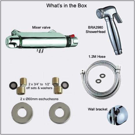 KIT5900: Bar Type thermostatic Bidet shower kit