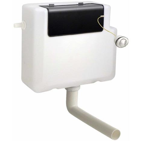Concealed slimline dual flush toilet cistern