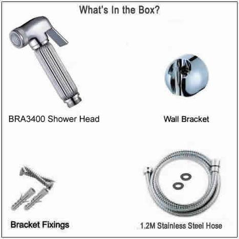 BRA3400 Chromed Bidet Shower with splined handle