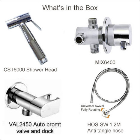 KIT6150: Thermostatic bidet shower kit with auto prompt water shut off valve