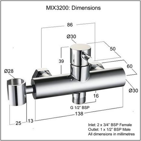 MIX3200: Miniature Single Lever Mixer