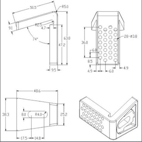 FFX-100: WC Toilet pan floor fixing kit