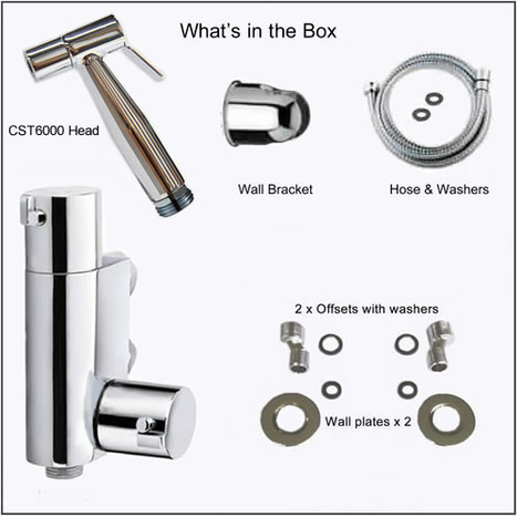 KIT2600: Thermostatic controllable warm water bidet shower kit