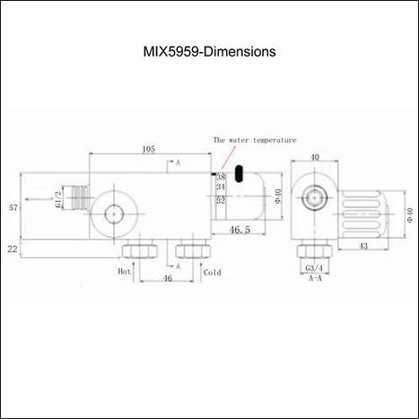 MIX5959: Compact Thermostatic Vertical Bar Mixer Valve