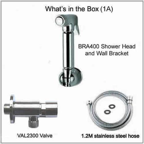 BRA6400: Bidet Shower with Automatic Shut Off Valve