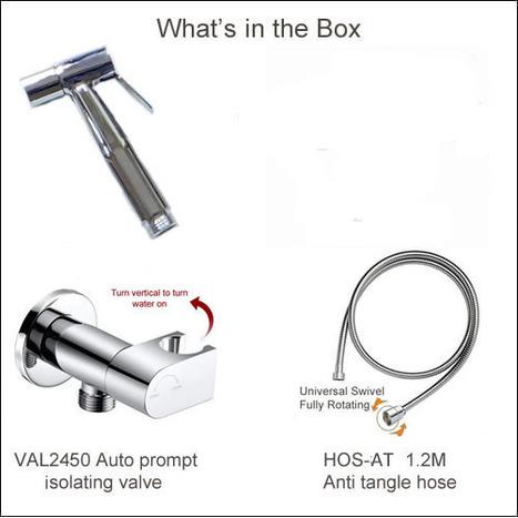 CST6200 High Pressure Bidet Shower with Auto Prompt Shut Off Valve