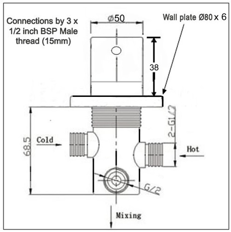 MIX6400: Thermostatic Mixer Valve