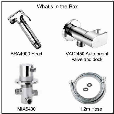 KIT6501: Thermostatically controlled bidet shower with auto prompt water shut off
