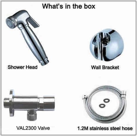 BRA6100: Bidet Shower with Automatic Shut Off Valve