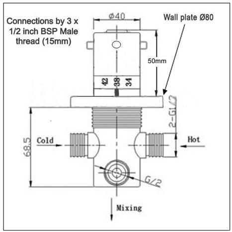 MIX6500: Thermostatic Mixer Valve