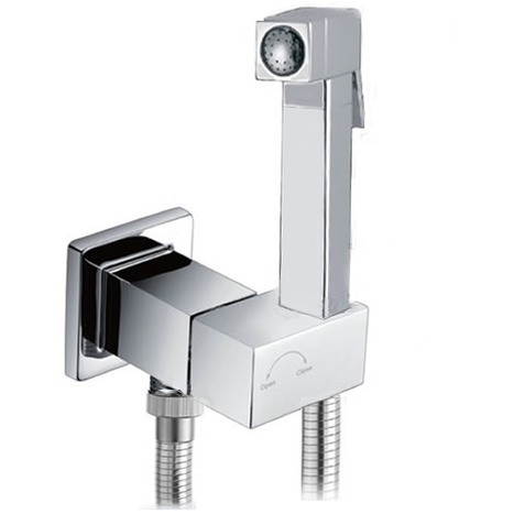 SQA6200 Square Style Bidet Shower in Mirror Chrome with Auto Prompt Shut Off Valve