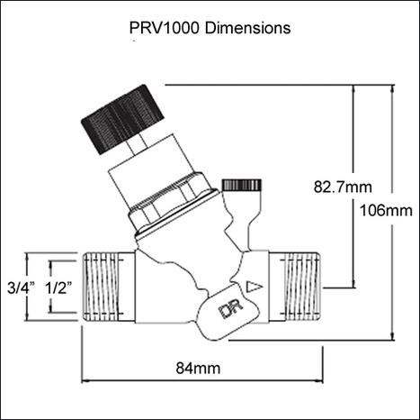 PRV1000 water pressure reducing valve