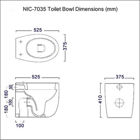 Nic 7035 Bidet Toilet