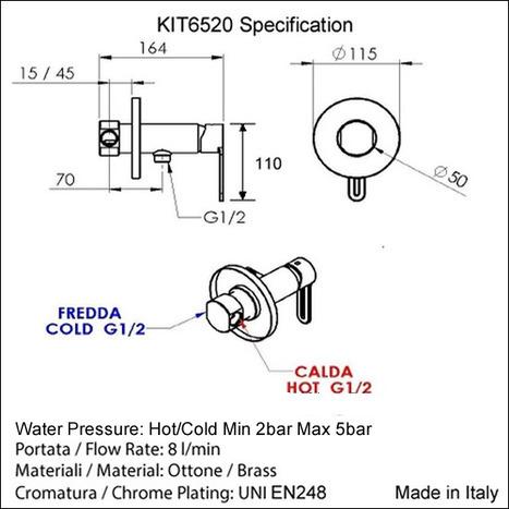 KIT6520: Italian Eco Douche Kit