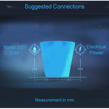 GFR-7035: Wash and Dry Bidet Shower Toilet: Remote Control