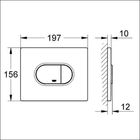 Grohe Arena Cosmo Flush Plate