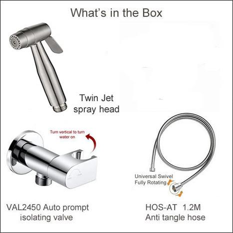 ABC5000: Twin Jet Bidet Shower with Auto Prompt Shut Off Valve