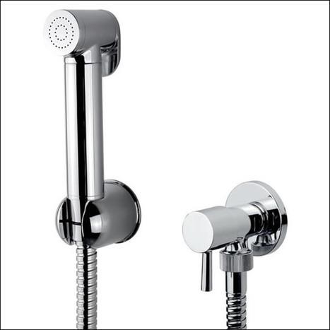 BRA4400: Italian Bidet Shower and Ceramic Core Angle Valve