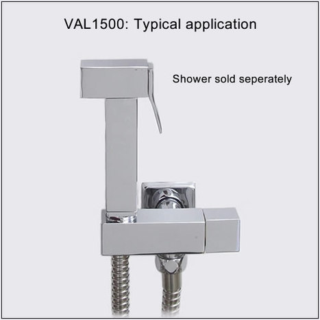 VAL1500: Shower Mount with Water shut off valve
