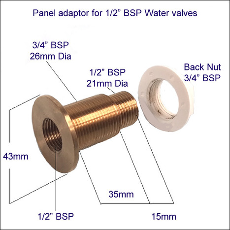 Marble Ceramic Panel adaptor for shower fittings