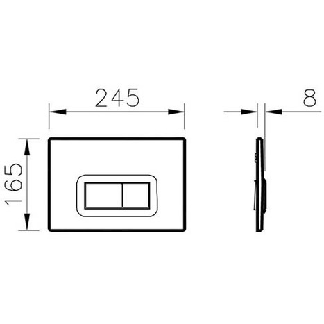 Vitra Loop R Mechanical Dual Flush Control - Chrome