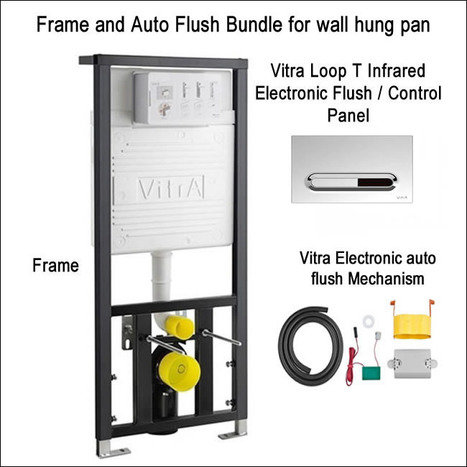 Vitra Concealed Cistern WC Frame & Auto flush bundle for wall hung toilets