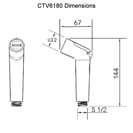 CTV6130 Bidet Shower with ceramic core slider trigger