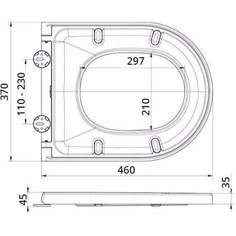 Soft Close D / U Shape Toilet Seat