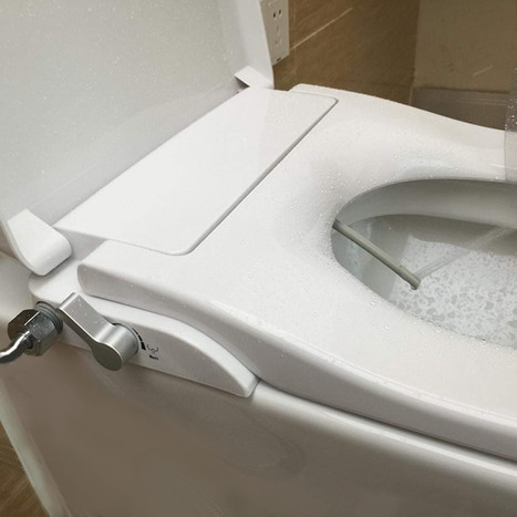 Extended Height Non-Electric Bidet Toilet