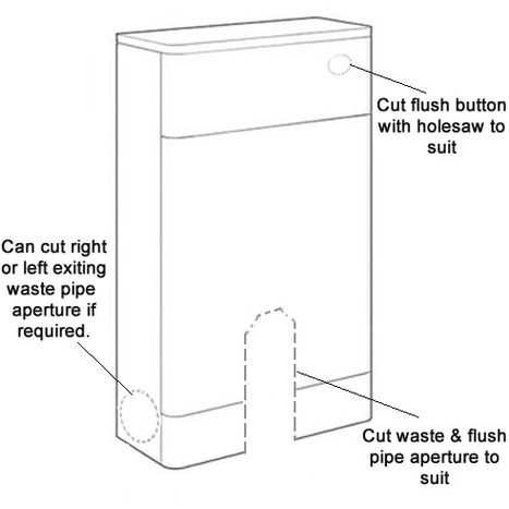 WCC-0815: Cistern Cabinet: Back to Wall Toilet