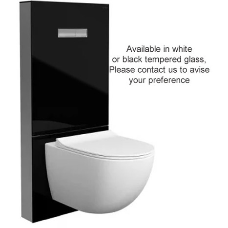 Vitra Vitrus Wall Hung Concealed Cistern White Safety Glass