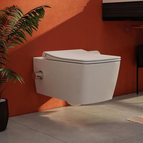 VitrA AquaCare Non Electric Wall Hung Turkish style Bidet Toilet