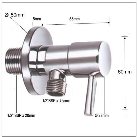 VAL0820: Italian 1/4 Turn Ceramic core angle valve / Water Isolating Valve