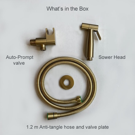 High Pressure Bidet Shower in Brushed Gold with Auto Prompt Shut Off Valve