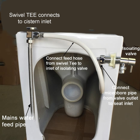 Floor Standing Back to Wall Non-Electric Bidet Toilet