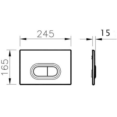 Vitra Loop O Mechanical Dual Flush Control - Matt Black