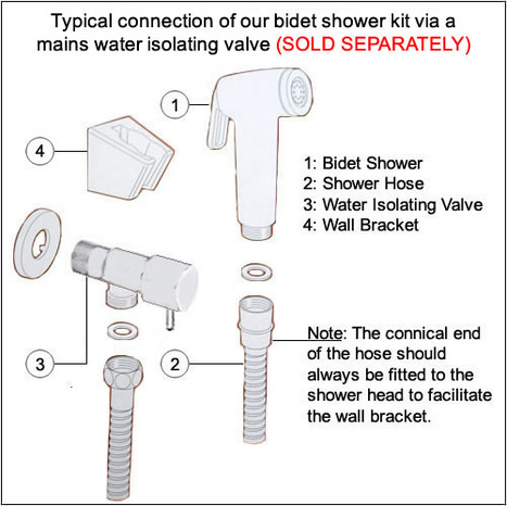 BRA3300: Hand Held Bidet Shower