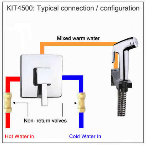 KIT4500: Warm Water Bidet Shower