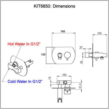KIT6800: Italian Round style Monobloc Bidet Shower Kit