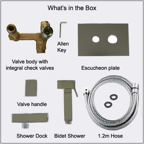 KIT7300: Italian Cubic style Monobloc Bidet Shower Kit