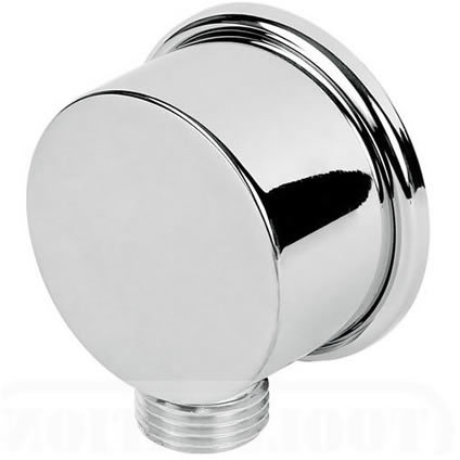 WPL0800: Shower Outlet wall plate elbow hose connector