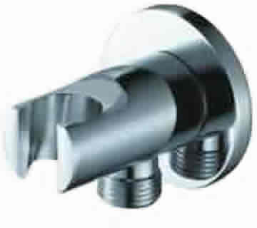WPL0900: Round wall plate elbow with integral shower mount