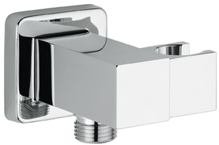 WPL1500: Square premium quality combination shower dock and wall plate elbow