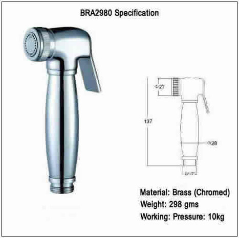 BRA2980: Shattaf Hand Held Bidet Shower