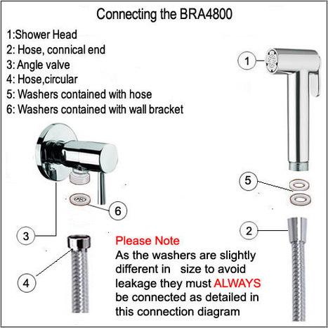 BRA4800: Italian Bidet Douche Shower & Valve