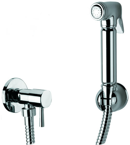 BRA4500: Italian Bidet Shower with ceramic core angle valve