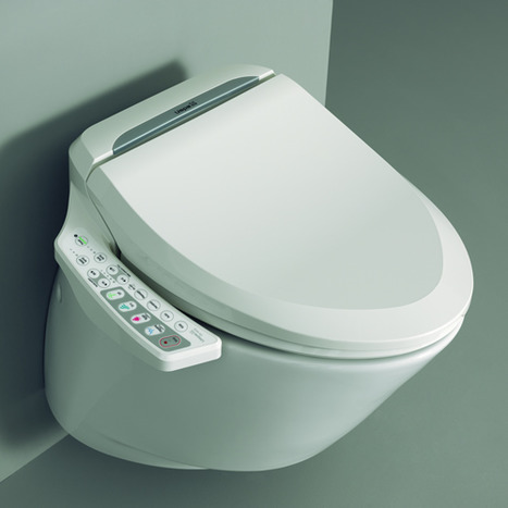nic6000 electronic bidet seat and wall hung toilet. Black Bedroom Furniture Sets. Home Design Ideas